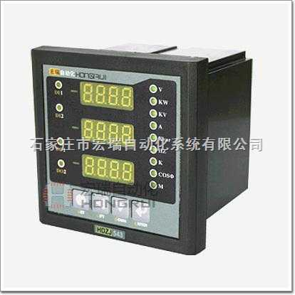 可直接从电流,电压互感器接入信号; 可任意设定ct/pt变比; 仪表显示
