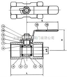 Q11Q11-一片式内螺纹球阀