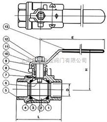 Q11Q11-二片式内螺纹球阀