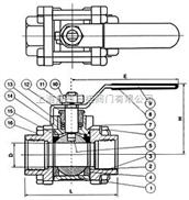 Q11Q11-三片式內螺紋球閥