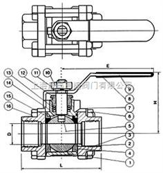 Q11Q11-三片式内螺纹球阀