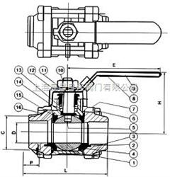 Q61Q61-三片式对焊球阀