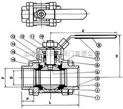 Q61Q61-三片式承插焊球阀