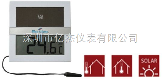 小型太阳能数字温度计