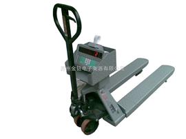 SCS可以拉动的电子秤。小推车叉车秤,2T不锈钢防水叉车秤