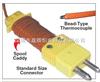美国omega热电偶|5LSC热电偶|带OSTW插头+绕线手柄热电偶